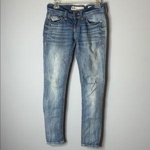 BKE Stella light wash skinny jeans 26 r